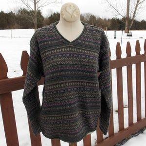Eddie Bauer V Neck Sweater Size Medium